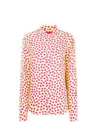 Camisa de vestir a lunares amarilla