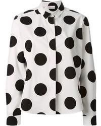 012b97350f2 Comprar una camisa de vestir a lunares en blanco y negro: elegir ...