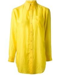 Camisa de vestir amarilla