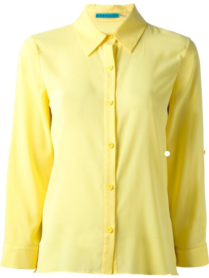 Camisa de vestir amarilla de Alice + Olivia