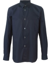 Camisa de vestir azul marino de Comme des Garcons