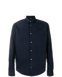 Camisa de vestir azul marino de Emporio Armani