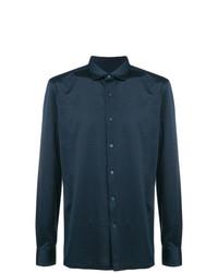 Camisa de vestir azul marino de Ermenegildo Zegna