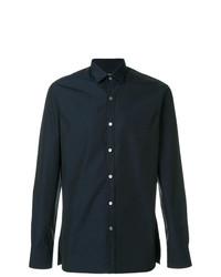 Camisa de vestir azul marino de Lanvin