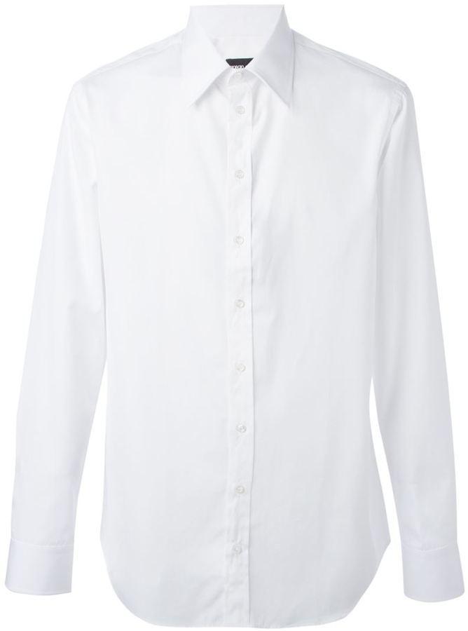 Camisa De Vestir Blanca De Giorgio Armani