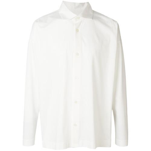 Camisa de vestir blanca de Homme Plissé Issey Miyake