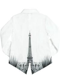 Camisa de vestir blanca de Junior Gaultier