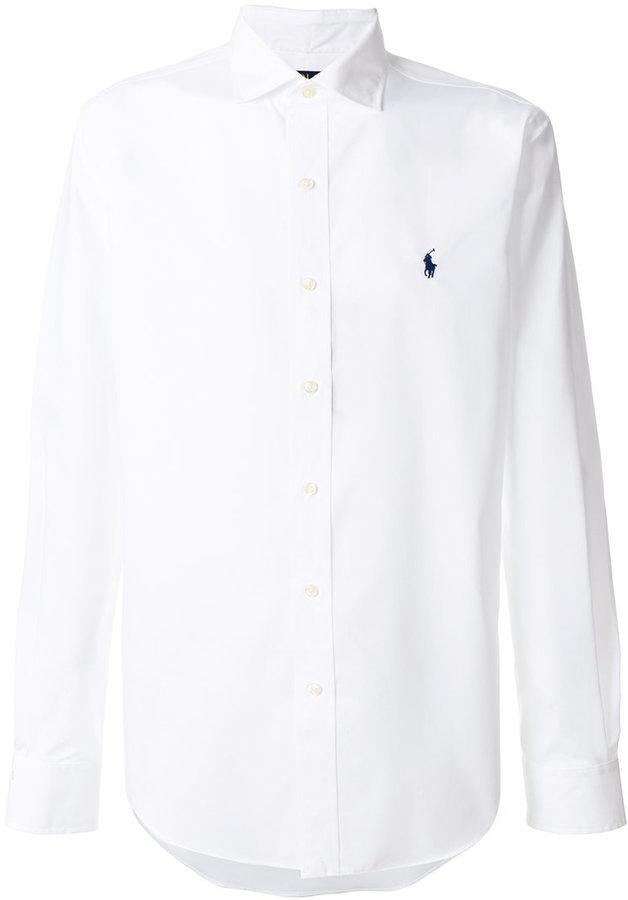 106 Camisa De Vestir Blanca De Polo Ralph Lauren