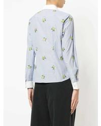 Camisa de vestir bordada celeste de Loveless