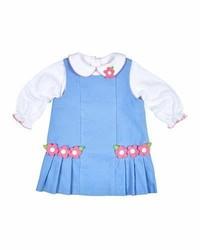 Camisa de vestir celeste de Florence Eiseman