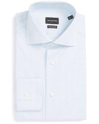 Camisa de Vestir con estampado geométrico Blanca de Ermenegildo Zegna