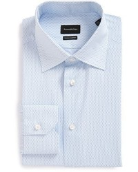 Camisa de Vestir con estampado geométrico Celeste de Ermenegildo Zegna