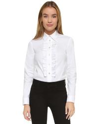 Camisa de vestir con volante blanca de RED Valentino