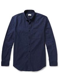 Camisa de vestir de cambray azul marino