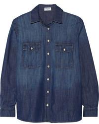Camisa de vestir de cambray azul marino de Frame Denim