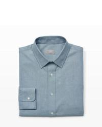 Camisa de vestir de cambray gris