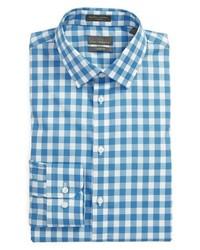 Camisa de vestir de cuadro vichy azul de Calibrate