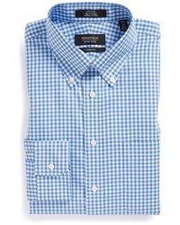 Camisa de vestir de cuadro vichy azul de Nordstrom