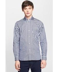 Camisa de vestir de cuadro vichy en blanco y azul marino de Junya Watanabe