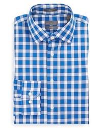 Camisa de vestir de cuadro vichy en blanco y azul de Calibrate