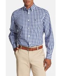 Camisa de vestir de cuadro vichy en blanco y azul de Façonnable
