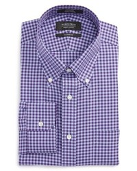 Camisa de vestir de cuadro vichy en violeta