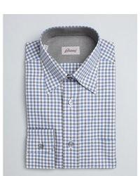 Camisa de vestir de cuadro vichy gris