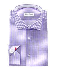 Camisa de vestir de cuadro vichy morado de Robert Graham