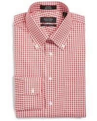 Camisa de vestir de cuadro vichy roja de Nordstrom