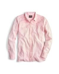 Camisa de vestir de cuadro vichy rosada