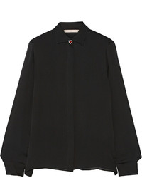 Camisa de vestir de gasa negra de Christopher Kane