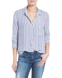 Camisa de Vestir de Rayas Verticales Azul de Rails