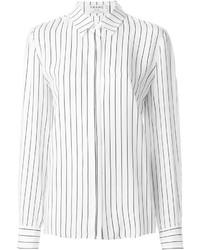 Camisa de vestir de rayas verticales blanca de Frame Denim