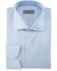 Camisa de vestir de rayas verticales celeste de Canali