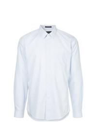 Camisa de vestir de rayas verticales celeste de D'urban