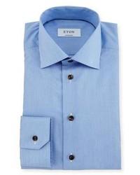 Camisa de vestir de rayas verticales celeste de Eton