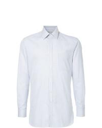 Camisa de vestir de rayas verticales celeste de Gieves & Hawkes