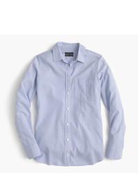 Camisa de vestir de rayas verticales celeste de J.Crew