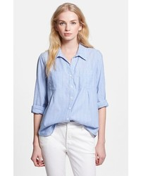 Camisa de vestir de rayas verticales celeste de Joie