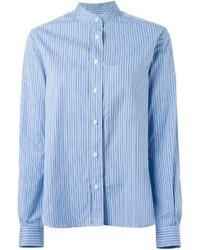 Camisa de vestir de rayas verticales celeste de Joseph