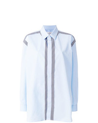 Camisa de vestir de rayas verticales celeste de Maison Margiela