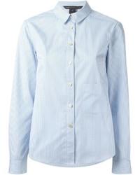 Camisa de vestir de rayas verticales celeste de Marc by Marc Jacobs