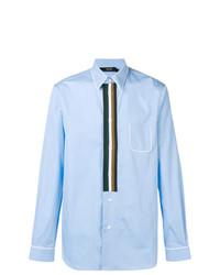Camisa de vestir de rayas verticales celeste de N°21