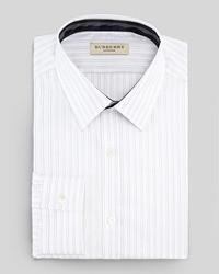 Camisa de vestir de rayas verticales en blanco y negro de Burberry
