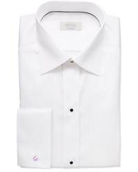 Camisa de vestir de rayas verticales en blanco y negro de Eton