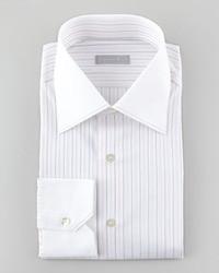 Camisa de vestir de rayas verticales en blanco y negro de Stefano Ricci