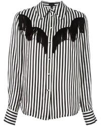 Camisa de vestir de rayas verticales en negro y blanco de Marc Jacobs