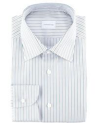 Camisa de vestir de rayas verticales gris de Ermenegildo Zegna