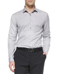 Camisa de vestir de rayas verticales gris de Lanvin