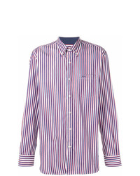 Camisa de vestir de rayas verticales morado de Paul & Shark